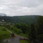 Вид на горы из отеля Эдельвейс в Яремче